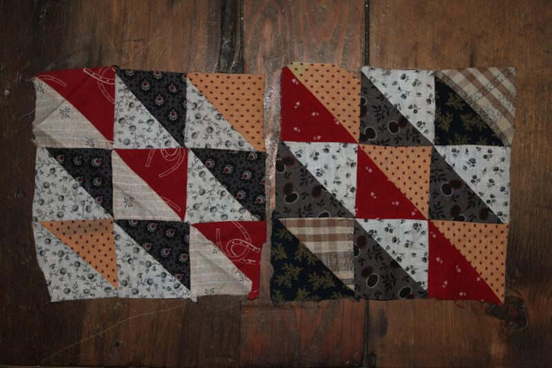 R-19th C. Quilt Blocks Hand dyed wool by Blackberry Primitives