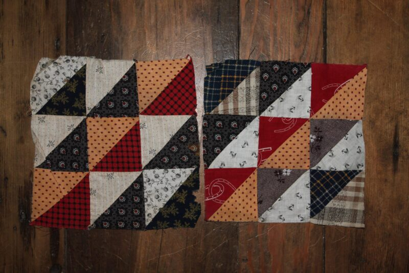 R-19th C. Quilts Blocks Hand dyed wool by Blackberry Primitives