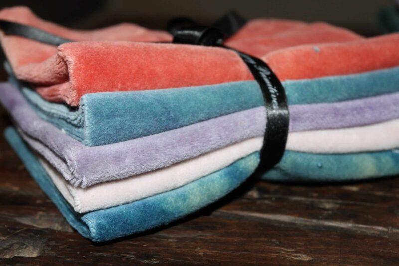 Velvet Bundle-2 Hand dyed wool by Blackberry Primitives