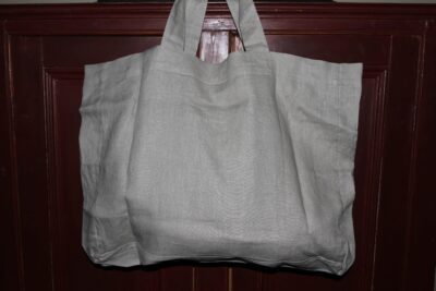 Linen Tote Bag Hand dyed wool by Blackberry Primitives