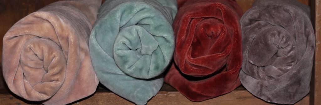 Hand Dyed Cotton Velvet